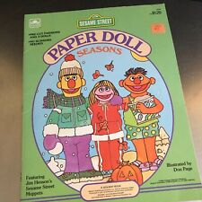 Sesame Street Seasons Paper Dolls Uncut Golden Books Educational Toy Homeschool