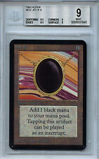 MTG Alpha Mox Jet BGS 9.0 (9) Mint Magic Card with 9.5 centering 7645