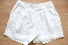 BODEN  white lottie  linen   shorts  size 6   WJ045   NEW stretch waist