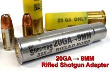 20GA to 9MM RIFLED Shotgun Adapter - Chamber Reducer - Stainless - Free Shipping