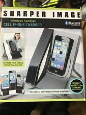 Sharper Image Wireless Bluetooth Handset iPhone 4 & 5 Samsung Cell Phone Charger