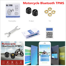 Motorcycle TPMS External Sensors Tire Pressure Monitor Bluetooth for Android/IOS