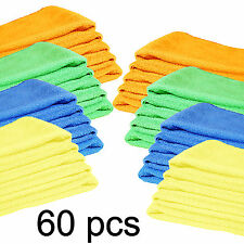 Microfiber Cleaning Cloth Set of 60 Towel Rag Car Polishing Detailing No-Scratch