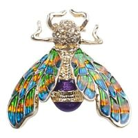Fashionable Bumble Bee Crystal Brooch Pin Costume Badge Party Jewelry Gift Co J4