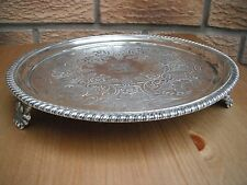 Georgian, George IV, crested silver salver, 1826 William Brown  527 grams