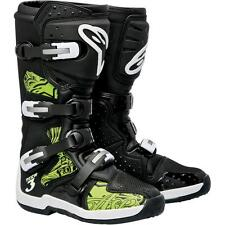 Alpinestars Tech 3 Motocross Dirt Bike Offroad ATV Boots Size 7 Black/Green