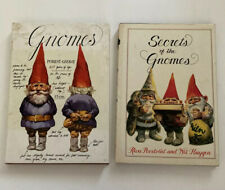 Vintage Gnomes And Secrets Of The Gnomes Signed By Poortoliet & Huygen Hardcopy