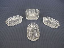 RARE VINTAGE HOCKING QUEEN MARY 4 pc. CIGARETTE HOLDER AND AND 3 ASHTRAYS