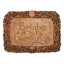 Bright Blessings Wall Plaque - Wood Finish - Dryad Designs - Wiccan Wicca Pagan