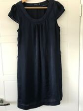 PORTMANS Navy Satin Shift Dress Size 10
