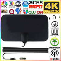 1000Miles Indoor HD Digital TV Antenna Aerial Signal Amplified 4K 1080P Freeview