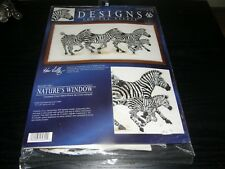 Counted Cross Stitch Kit 5609 Nature's Window  ZEBRAS  NEW Kenneth Lily