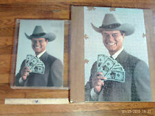 DALLAS J.R.Ewing Jigsaw Puzzle Vintage 1980 with Box and Frame Warren Paper Prod