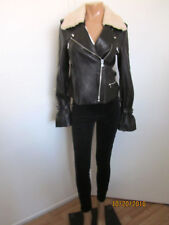 PAIGE Rhoda Shearling Collar Leather Moto Jacket Size L ~NWT~ $1078