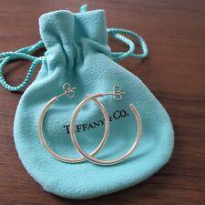 Auth TIFFANY & CO 1837 Hoop Earrings Sterling Silver