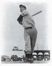 TED WILLIAMS 8X10 PHOTO BOSTON RED SOX MLB BASEBALL PICTURE WARM UP B/W