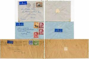 KENYA KUT 3 COVERS 1932-55 CDS + MACHINE SLOGAN CANCELS AIRMAIL