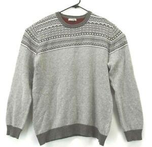 Grayson & Dunn Men's XL Lambswool Blend Crew Neck Soft Winter Sweater Gray