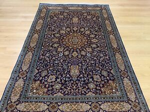Oriental Persian Kashmir Hand Knotted Made Silk Rug Carpet,Room Floor Decor