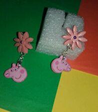 Orecchini creazioni in fimo Peppa Pig earrings fatti a mano Bijoux  idea regalo