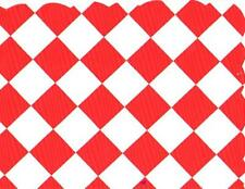 48 Plastic Scalloped Placemats Dinner Size Place Mats - Red Checkerboard