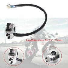 "7/8""Plating Motorcycle Handlebar Horn Button Fog Light Controller Switch Sliver"
