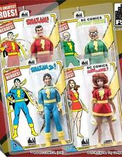 SHAZAM RETRO SERIES 1; SET OF 4; 8 INCH ACTION FIGURES MOSC NEW FIGURES TOY CO