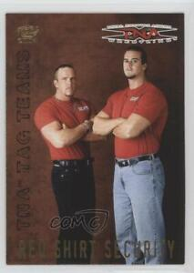 2004 Pacific TNA Tag Teams Red Shirt Security #5 Patch