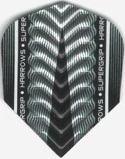 Silver HARROWS SUPERGRIP-X Dimplex Ribs Dart Flights: 3 per set