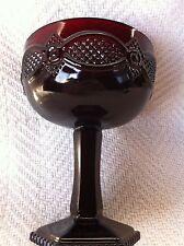 "NOS AVON 1876 CAPE COD 5 1/2"" SAUCER CHAMPAGNE/TALL SHERBERT GLASS GOBLET"