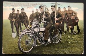 1915 Campbellton Canada Picture Postcard Cover Cyclist Army Leaving W Picks