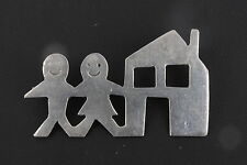 STERLING SILVER TC-54 TAXCO MAN & WOMAN AND HOUSE BROOCH BROOCH 925 FINE 3197