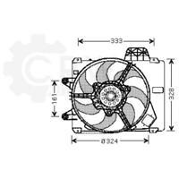 Fan Engine Cooling Radiator Fan Blower Motor Fiat Punto Van 176L