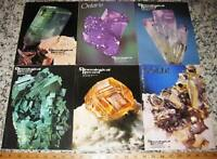 VOL 13 MINERALOGICAL RECORD 1982 All 6 Issues Complete Minerals Crystals Mining