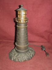 Antique Nautical Bronze Lighthouse Form Lamp
