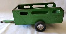 Vintage Nylint Toy Green Pressed Steel Metal Farm Animal Open Trailer