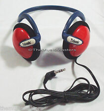 New 4X On-ear Neckband Sport Style Wired Stereo Headphones Earphones Headset Red