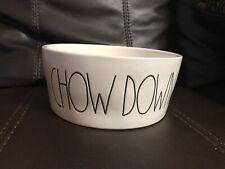 "RAE DUNN XL ""CHOW DOWN"" Dog Bowl Food or Water Pet Animal Dish"