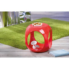 Beistelltisch rot hochglanz Wohnzimmertisch Beistell Tisch Nachttisch Design NEU