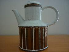 "1970's VINTAGE RETRO MIDWINTER STONEHENGE ""EARTH"" STONEWARE  COFFEE POT WITH LID"