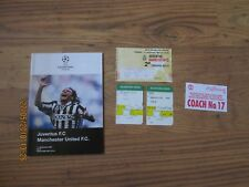 1996/7 JUVENTUS v MANCHESTER UNITED (CHAMPIONS LEAGUE) PROGRAMME & TICKET
