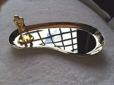 MIKIMOTO STAINLESS STEEL TRAY with GOLD GOLFER & PEARL GOLF BALL - BNIB!!!