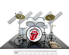 Mini Drum set Rolling Stones 50° tribute miniature 1:4 model collectible gadget