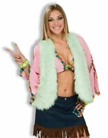 Adult 60s MOD Groovy Green Furry Hippie Costume Vest Perfect for Men or Women