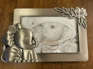 Silver Metal Jungle Baby Elephant 6x4 Picture Frame NWT