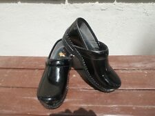 Dansko XP Clogs 37 Patent Leather Professional Shoes Comfort Walking Black