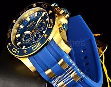 Invicta 50MM Pro Diver Scuba Gen IV Blue Dial Chronograph Silicone Strap Watch