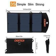 Choetech Solar Charger Usb Cable Black Sc001-V1 19W for Samsung Galaxy #Usa