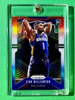Zion Williamson RED WHITE BLUE REFRACTOR ROOKIE PRIZM #248 WELL CENTERED RC Mint