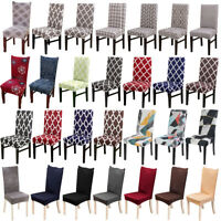 4pcs Chair Protectorr Slipcover Stretch Removable Washable Spandex Chair Cover